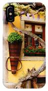 Wisteria And Yellow Wall In Alsace France IPhone Case