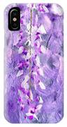 Wisteria Grunge Abstract IPhone Case