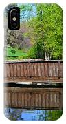 Wisteria In Bloom At Loose Park Bridge IPhone Case