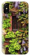 Wisteria On A Home In Zellenberg France 3 IPhone Case