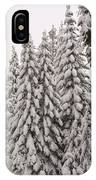 Wnter Snow At Shaver Lake IPhone Case