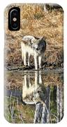 Wolf Pup Reflection IPhone Case