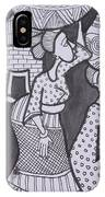 Woman And Her Son Are Coming From Farm IPhone Case