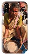 Woman Sifting In A Street Market India IPhone Case