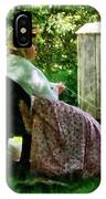 Woman Spinning Wool IPhone Case