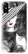 Woman With A Hat IPhone Case