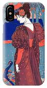 Woman With Peacocks IPhone Case