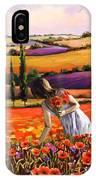 Women Gathering Poppies In Tuscan IPhone Case