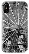 Wonder Wheel Of Coney Island In Black And White IPhone Case