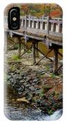 Wood Bridge And Autumn Color IPhone Case