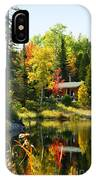 Wood Cabin By The Lake IPhone Case