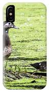 Wood Duck And Baby IPhone Case