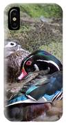 Wood Duck Couples IPhone Case
