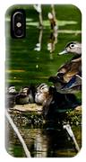 Wood Duck Family IPhone Case