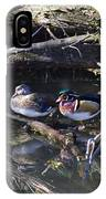 Wood Duck Reflections IPhone Case