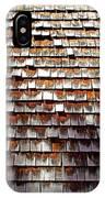 Wood Roof Shingles IPhone Case