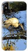 Wood Stork Perch IPhone Case