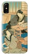 Woodblock Production IPhone Case