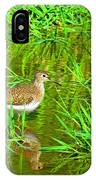 Solitary Sandpiper IPhone Case