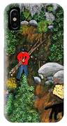 Woodcutters And Black Lab IPhone Case