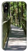 Wooden Boardwalk Through The Forest IPhone Case