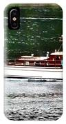 Wooden Boat With Skiff IPhone Case