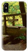 Wooden Bridge In The Hoh Rainforest IPhone Case