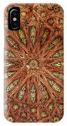 Wooden Coffered Ceiling In The Alhambra IPhone Case
