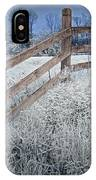 Wooden Fence Of A Friesian Horse Pasture On Windmill Island IPhone Case