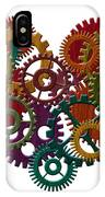 Wooden Gears Forming Heart Shape Illustration IPhone Case