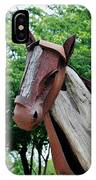 Wooden Horse20 IPhone Case