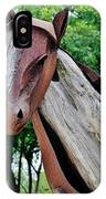 Wooden Horse21 IPhone Case