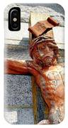 Wooden Jesus IPhone Case