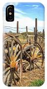 Wooden Ranch Wagon IPhone Case