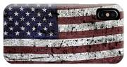 Wooden Textured U. S. A. Flag IPhone Case