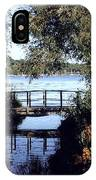 Woodfoot Bridge Of Williams Bay Wi Over Geneva Lake  IPhone Case