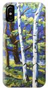 Woodland Birches IPhone Case