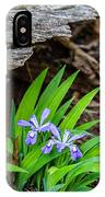 Woodland Dwarf Iris Wildflowers IPhone Case