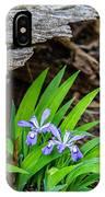 Woodland Dwarf Iris Wildflowers IPhone Case