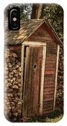 Woodpile And Shed IPhone Case