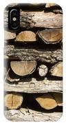 Woodpile. IPhone Case