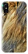 Woolly Mane Of The King   IPhone Case