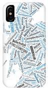 Wordcloud Of Scotland IPhone Case