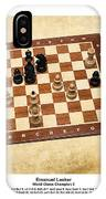 World Chess Champions - Emanuel Lasker - 1 IPhone Case