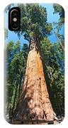 World Famous General Sherman Sequoia Tree In Sequoia National Park. IPhone Case