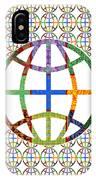 World Globe Earth Travel Graphic Digital Colorful Pattern Signature Art  Navinjoshi Artist Created I IPhone Case
