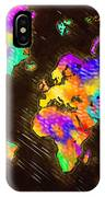 World Map Color IPhone Case