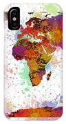 World Map Digital Watercolor Painting IPhone Case