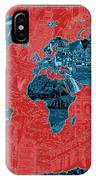 World Map Landmark Collage 11 IPhone Case