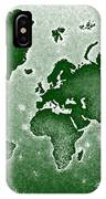 World Map Novo In Green IPhone Case